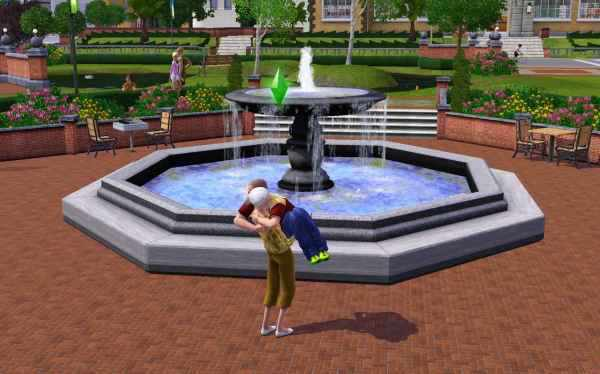 A funny screenshot of the Sims 3. Mommy, Hold me!