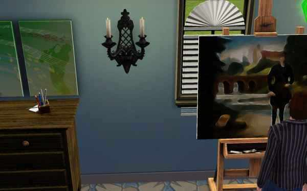 Painting a masterpiece in the Sims 3