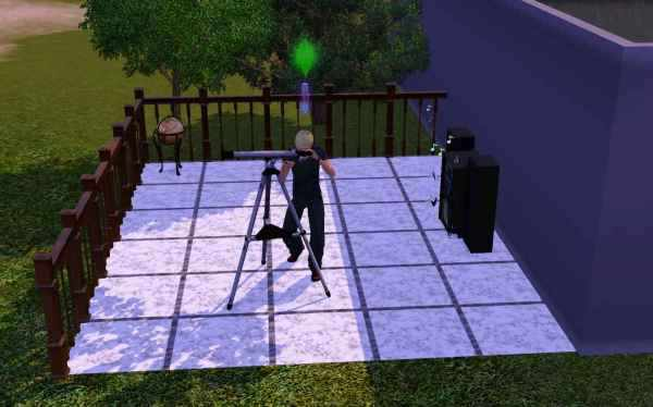 Using a telescope to raise logic and find stars in the Sims 3