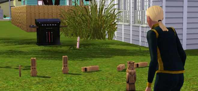 The Sims 3 Ambitions - Sim Playing a Game of Gnubb
