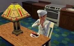 Enjoying Lobster Thermidor in the Sims 3