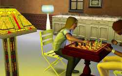 Win against other Sims to make it to the rank of Chess Grand Master in the Sims 3