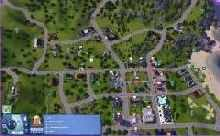 A collecting map for the Sims 3: where to find bugs (butterflies and beetles) in Sunset Valley