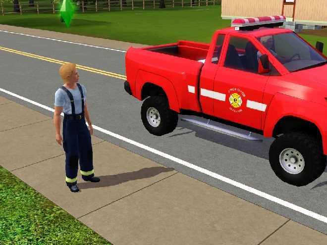 The Sims 3 Firefighter - Career as a Fireman