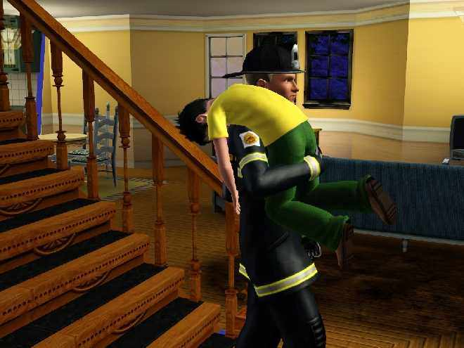 The Sims 3 Firefighter - Rescuing a Child