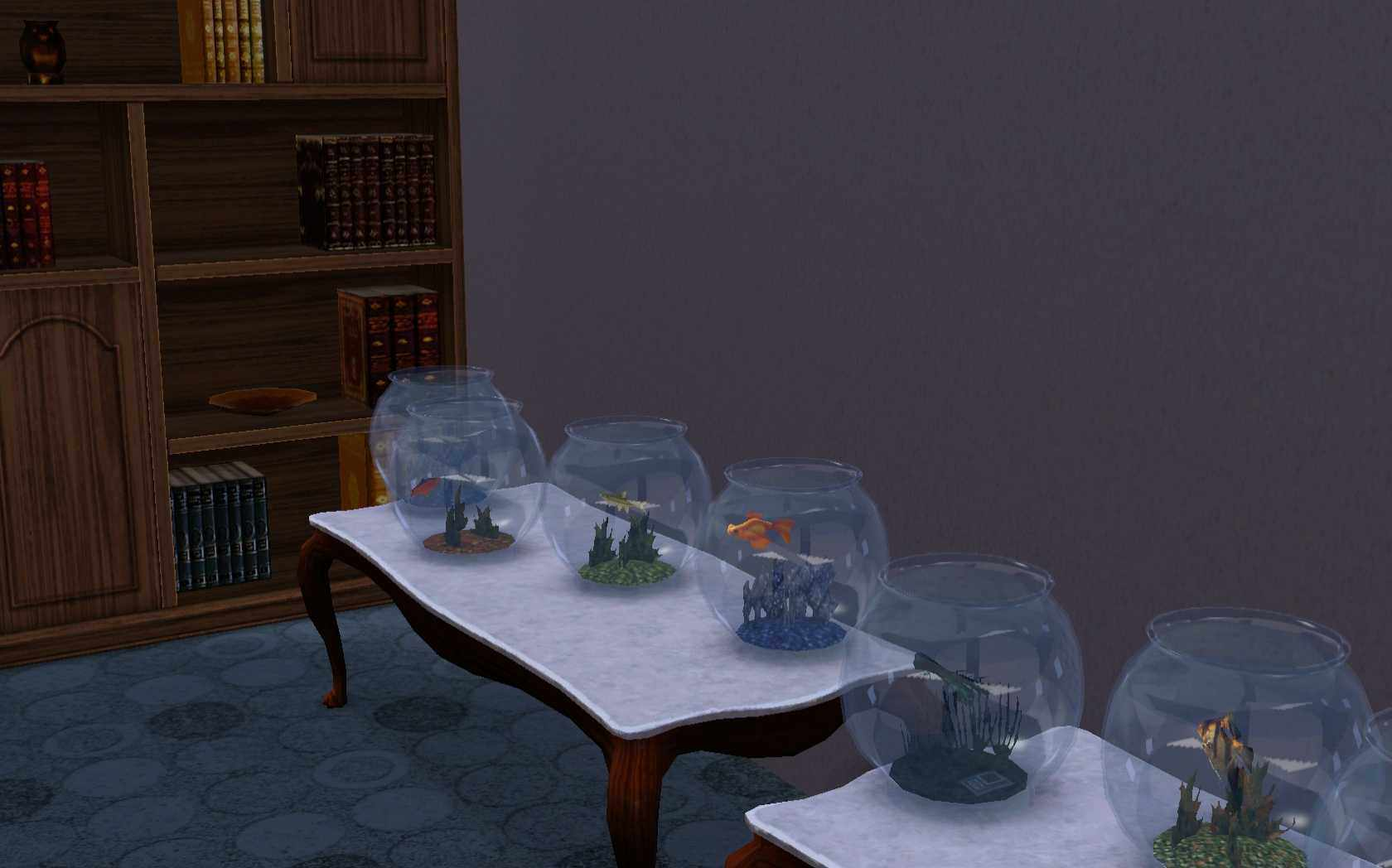 Fish xbox aquarium - An Angelfish Deathfish And Several Other In Aquariums In The Sims 3 Creating The