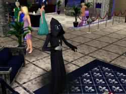 The Grim Reaper from the Sims 3 playing with Virtual Reality Goggles