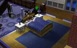 The Sims 3 Gold Digger: Sleeping his and her's bed with him!
