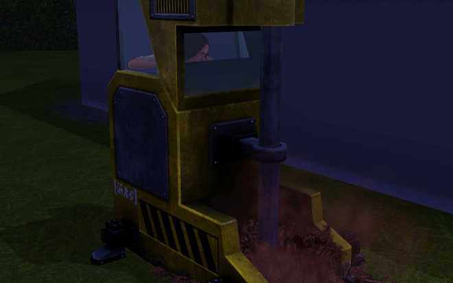 Sims 3 Ambitions Inventing - The Miner, drilling in my backyard
