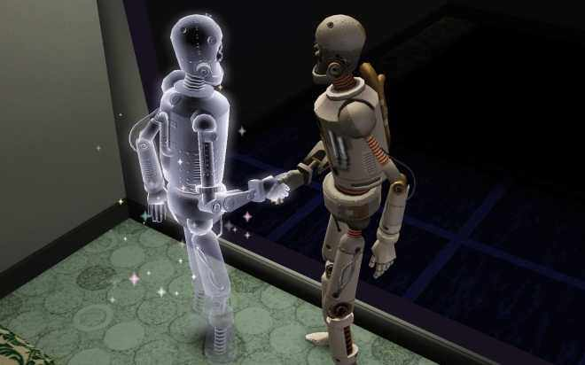 Sims 3 Ambitions Inventing - Dead Simbot, meet... SimBot 2