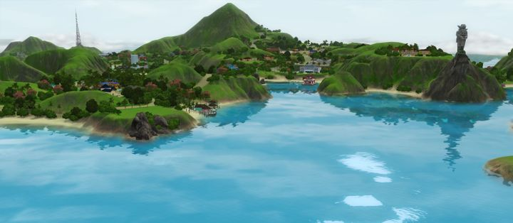 The Sims 3 Island Paradise - Isla Paradiso wide view