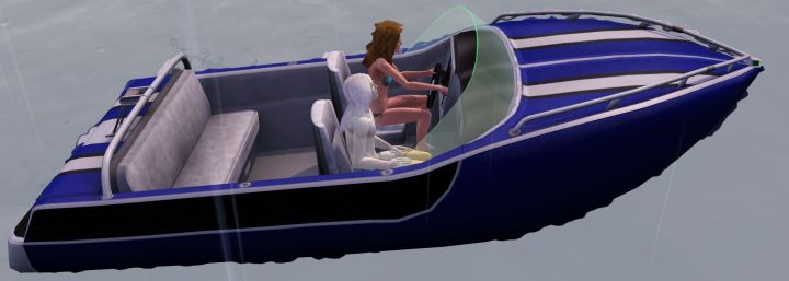 The Sims 3 Island Paradise Mermaids: Giving a Mermaid a Ride to the Sim's House in a Speedboat