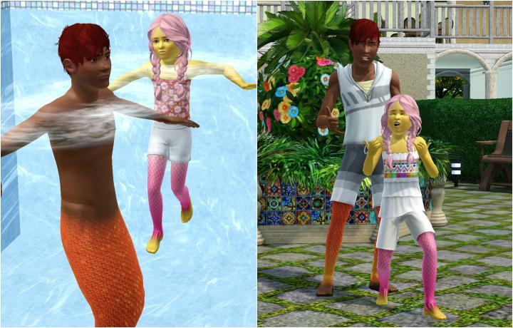 The Sims 3 Island Paradise Mermaids: Shaka bra, Child and Teen