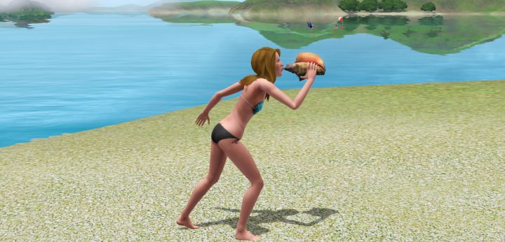 The Sims 3 Island Paradise Mermaids: Signal a Mermaid to come visit