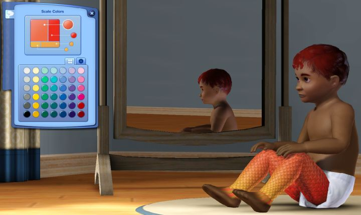 The Sims 3 Island Paradise Mermaids: Changing a Mermaid's Scale Colors