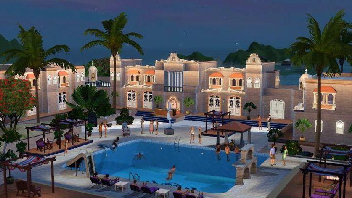 The Sims 3 Island Paradise - a beautiful hotel