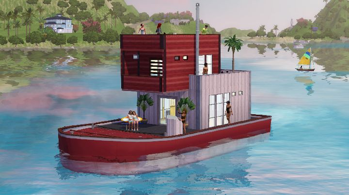 The Sims 3 Island Paradise - houseboat