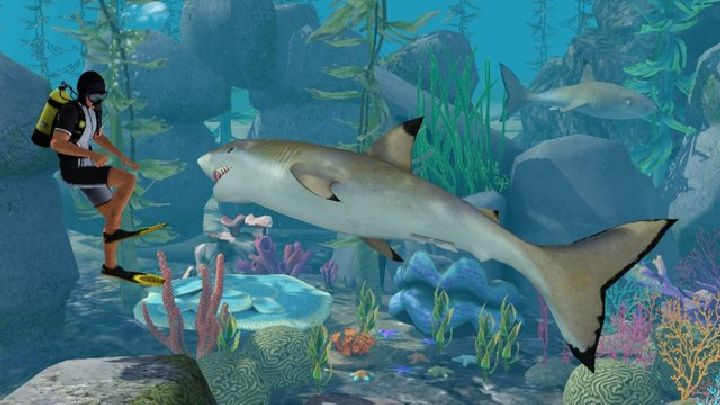 The Sims 3 Island Paradise - Shark attacking a Sim