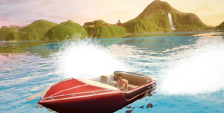 The Sims 3 Island Paradise - speedboat
