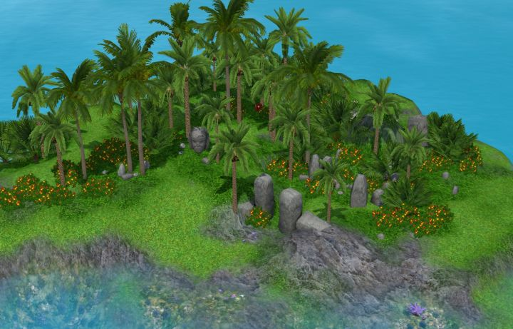 Plumbob Island and its Treasure Chest in The Sims 3 Island Paradise Expansion Pack