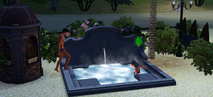 Making a Hot Tub Area for the Resort