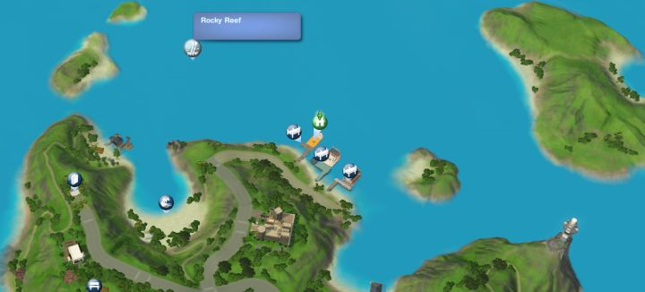 The Sims 3 Island Paradise - Rocky Reef Diving Spot for the Scuba Diving Skill