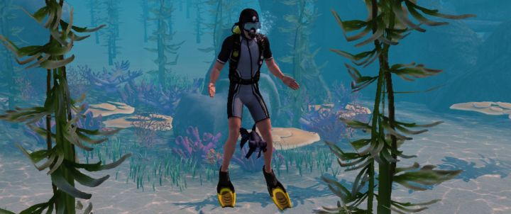 The Sims 3 Island Paradise Expansion - Catching fish while Scuba Diving