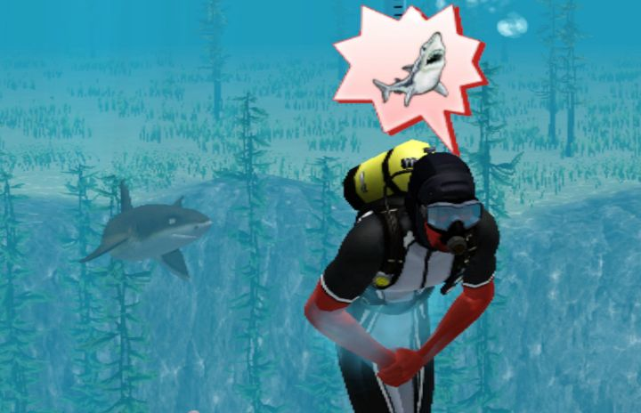 The Sims 3 Island Paradise Expansion - A Shark frightens a Scuba Diver