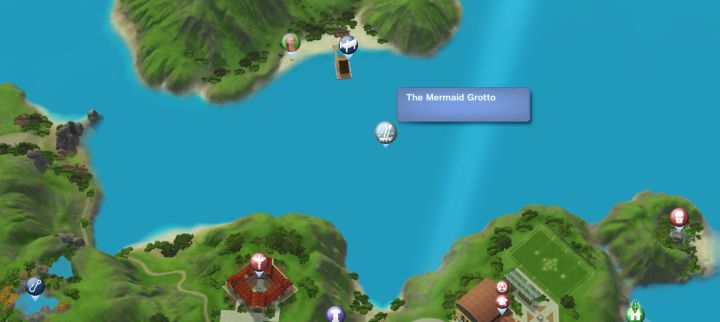The Sims 3 Island Paradise - The Mermaid Grotto Diving Spot for the Scuba Diving Skill