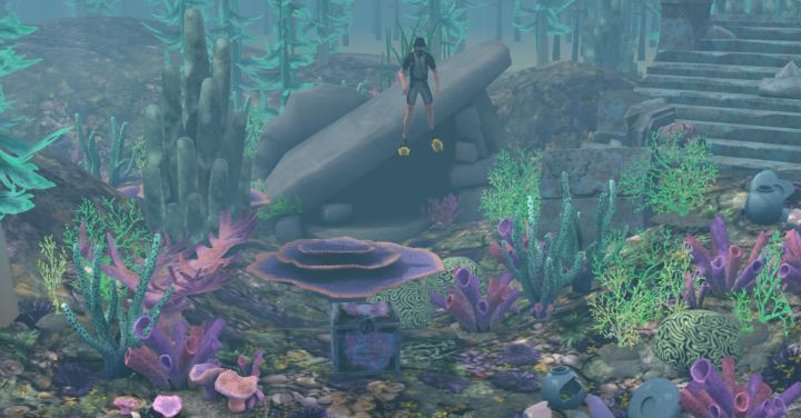 The Sims 3 Island Paradise - First Treasure Chest and Cave at Mermaid Grotto