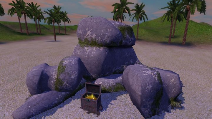 The Sims 3 Island Paradise - Treasure Chest on Pearl's Deep's Island