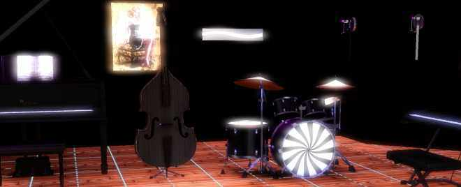 The Sims 3 Late Night's Musical Instruments