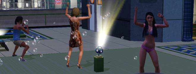 Dancing on the Rooftop of Aquarius in The Sims 3 Late Night