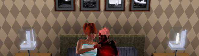 A Vampire's Ghost in The Sims 3 Late Night. Don't let your Vampire die of thirst!