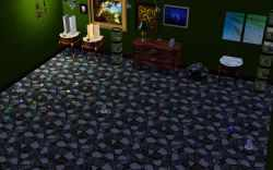My Sim's treasure room in the Sims 3