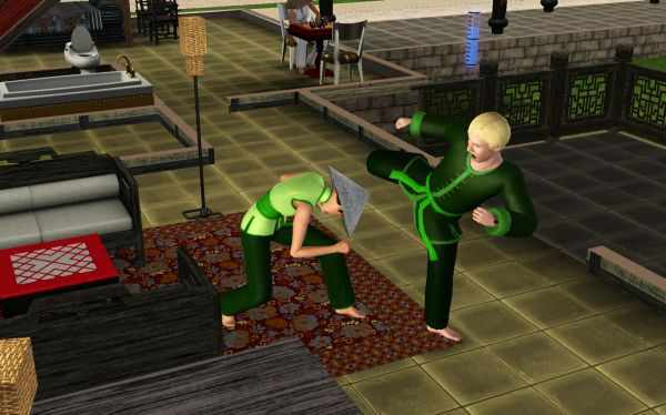 A sparring screenshot from the Sims 3 World Adventures
