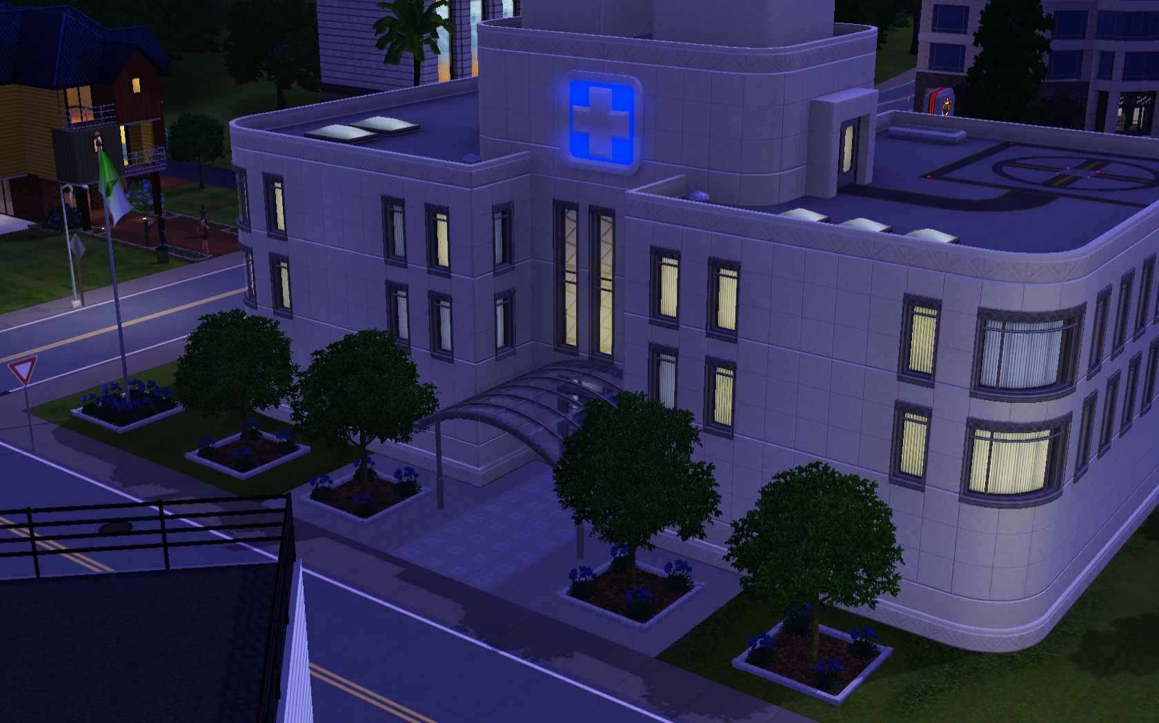 The Hospital In Sims 3 S Sunset Valley