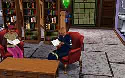 Studying in the libary is probably the best option for a bookworm doctor to raise logic in the Sims 3.
