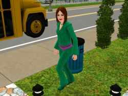 A Teenager in the Sims 3, off to school