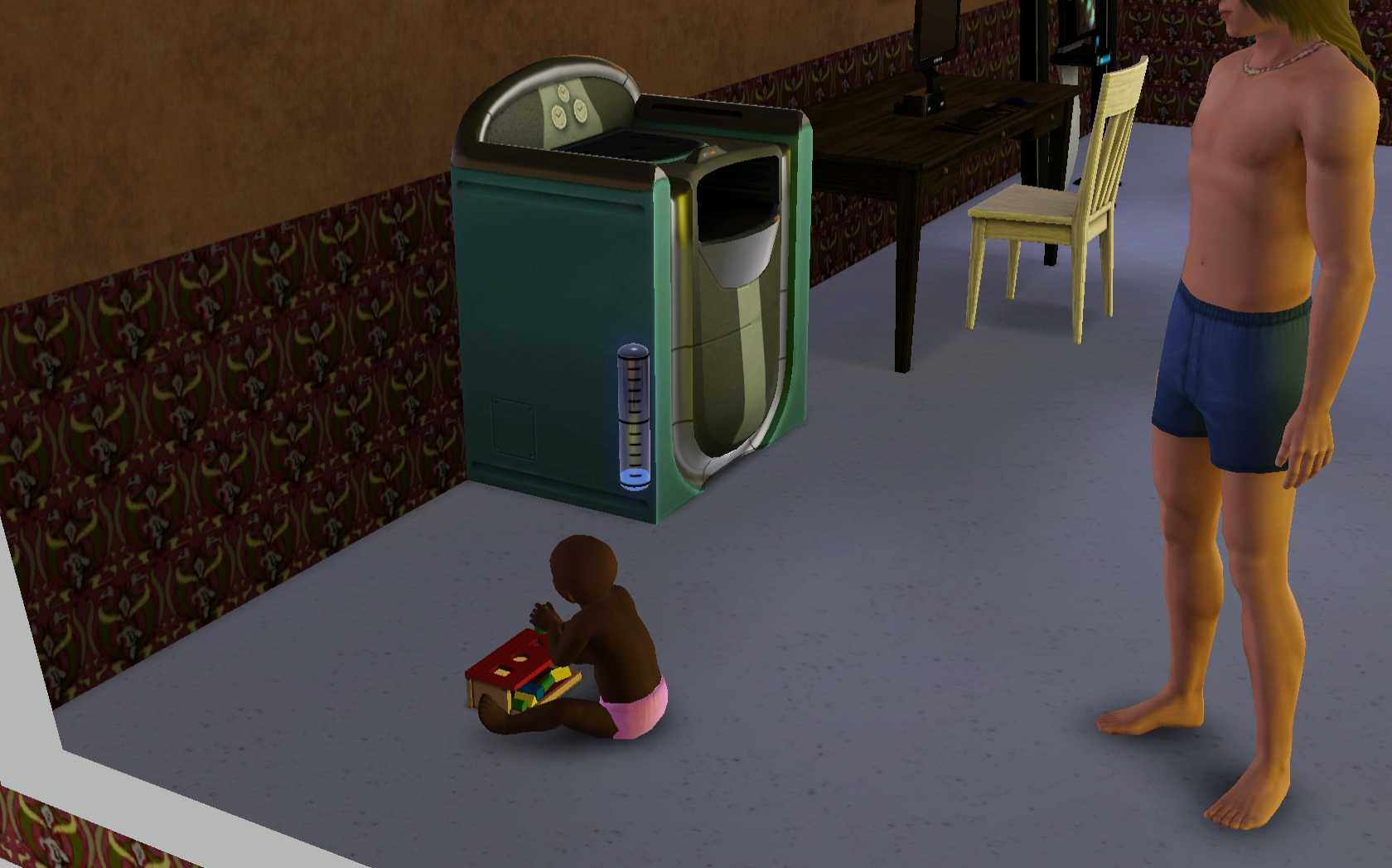 Sims 3 Parenting: Toddler Playing With Peg Blocks