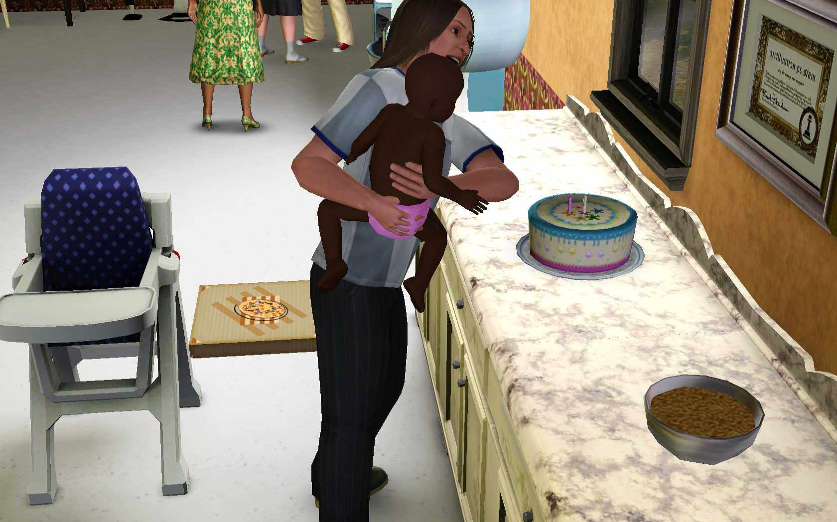 Sims 3 Parenting: Baby's First Birthday Party