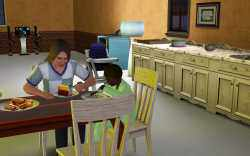 Sims 3 Parenting: Toddler growing into a child