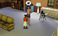 Sims 3 Parenting: Tutoring a child to teach them skills