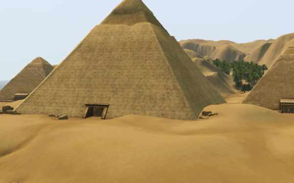 The Sims 3 World Adventures Photography: The Pyramids in Al Simhara Egypt are an excellent photography subject