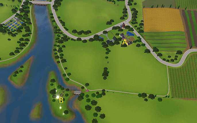Sims 3 Riverview Seed Map