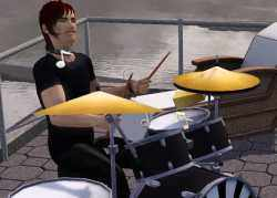 Bass, Drums, and Piano in The Sims 3 Late Night