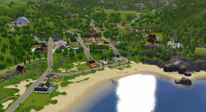 The Sims 3 World Sunset Valley Town Guide