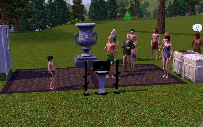 The Sims 3 Party Shot