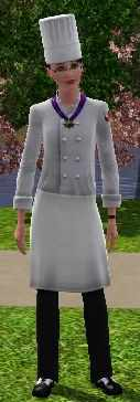 The Sims 3 Culinary Career Track Uniform for Five Star Chef