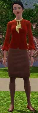 The Sims 3 Journalism Career Track Uniform for Star News Anchor